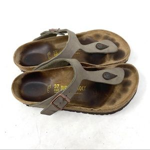 Birkenstock Gizeh taupe thong sandals 7 D2